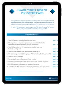 Grade your PEO Scorecard
